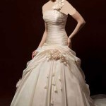مدل لباس عروس نباتی رنگ