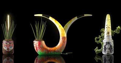 مدل گلدان,گلدان های جالب با لامپ led