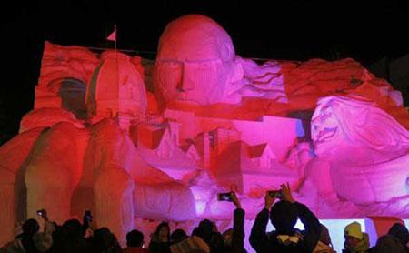 عکسهای جالب,تصاویر دیدنی,مجسمه های برفی